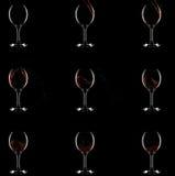 Como o vinho começ no vidro. 9 estágios ilustração stock