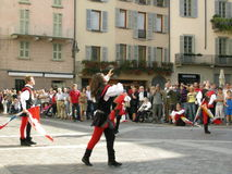 Como palio festival Italy royalty free stock images