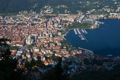 Como Panoramic View Royalty Free Stock Images