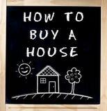 Como quadro-negro do quadro da casa da compra Imagem de Stock