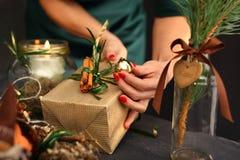 ¿Como regalo originalmente lleno para la Navidad? Fotografía de archivo libre de regalías
