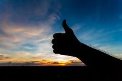 Como silueta de la mano de la forma foto de archivo libre de regalías