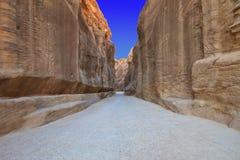 Como-Siq el Petra, Jordania. Fotografía de archivo libre de regalías