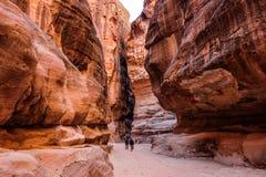Como-Siq el Petra, Jordania Fotografía de archivo libre de regalías