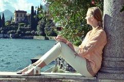 Como sjö, Italien -- retro nostalgiker arkivbilder