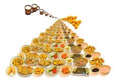 Como sob a forma da mão como pratos do alimento Fotografia de Stock