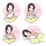 Como tomar um bebê por uma mãe ilustração do vetor