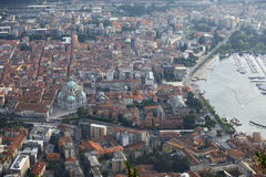 Como town rooftops Royalty Free Stock Photography
