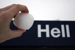 Como una bola de nieve en infierno Imagen de archivo libre de regalías