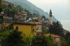 Como, view from above, Italy stock image