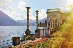 Como from villa Monastero. Italy. View to the lake Como from villa Monastero. Italy stock photography