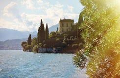 Como from villa Monastero. Italy. View to the lake Como from villa Monastero. Italy royalty free stock photography