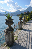 Como from villa Monastero. Italy. View to the lake Como from villa Monastero. Italy royalty free stock images