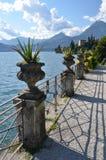 Como from villa Monastero. Italy Royalty Free Stock Images