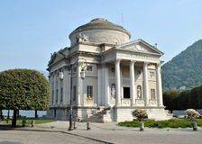 Como - A. Volta's monument. View of the monument for the inventor Alessandro Volta, in Como (IT) - Europe Royalty Free Stock Photography
