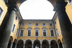Como & x28;Italy& x29;: town hall court Royalty Free Stock Photos