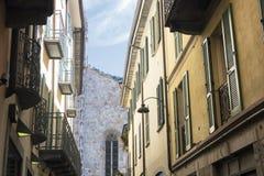 Como & x28; Lombardy Italy& x29;: Domkyrka Arkivbild