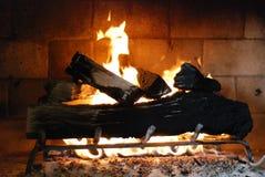 Comodidad de la chimenea Imagen de archivo libre de regalías