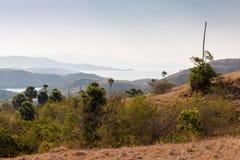 Comodo landscape. Komodo island dragon flores rinca Stock Photo