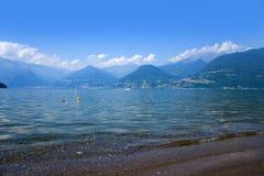comoitaly lake Royaltyfri Fotografi