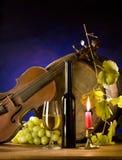 Comoposition met wijn Stock Foto's