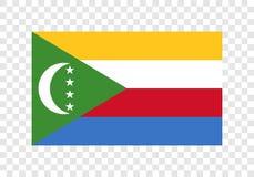 Comores - bandeira nacional ilustração royalty free