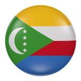 Comoros button on white background Stock Images