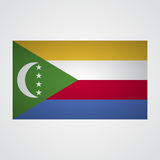 Comoros flag on a gray background. Vector illustration vector illustration