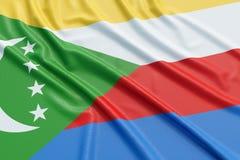 Comoros flag Stock Photography