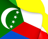 comoros flagga royaltyfri illustrationer
