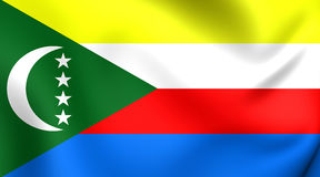 comoros flagga stock illustrationer