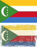 Comoros grunge flag. Vector illustration Royalty Free Stock Photo