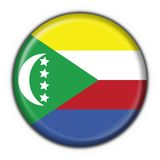 Comoros guzika flaga kształt Zdjęcia Stock