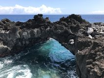 Comoros landscape volcanic rock beautiful stock image
