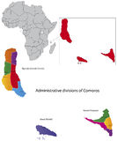 Comoros map Stock Photo