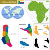 Comoros map Royalty Free Stock Image