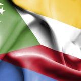 Comoros som vinkar flaggan royaltyfri illustrationer