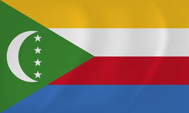 Comoros waving flag Stock Photos