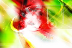 comosition 3d abstrato estrangeiro Imagens de Stock Royalty Free