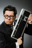 Comouter geek with computer Stock Image