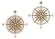 Compás antiguo ilustración del vector