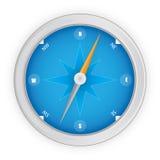 Compás azul Imagen de archivo libre de regalías