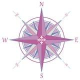 Compás color de rosa del viento de la vendimia Imagen de archivo