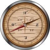 Compás de madera ilustración del vector