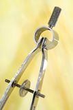 Compás de medición Imagen de archivo libre de regalías