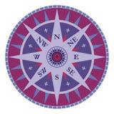 Compás del vector de la vendimia - viento color de rosa Fotografía de archivo libre de regalías