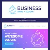 Compás hermoso de la marca del concepto del negocio, dirección, naviga ilustración del vector