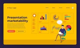 Compétence plate mA de présentation de concept de construction de site Web de conception de maquette illustration stock
