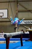 Compétition internationale de gymnastique artistique Photographie stock libre de droits