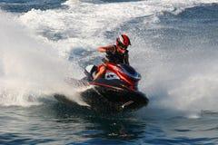 Compétition sportive de moteur de l'eau Photos libres de droits